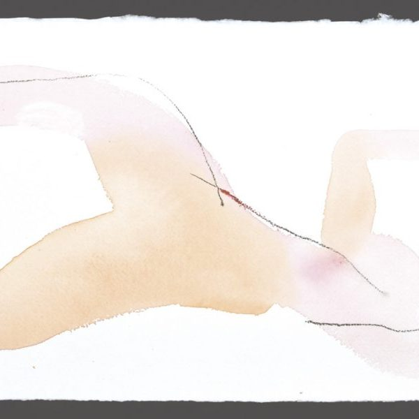 aquarelle contemporaine nu féminin