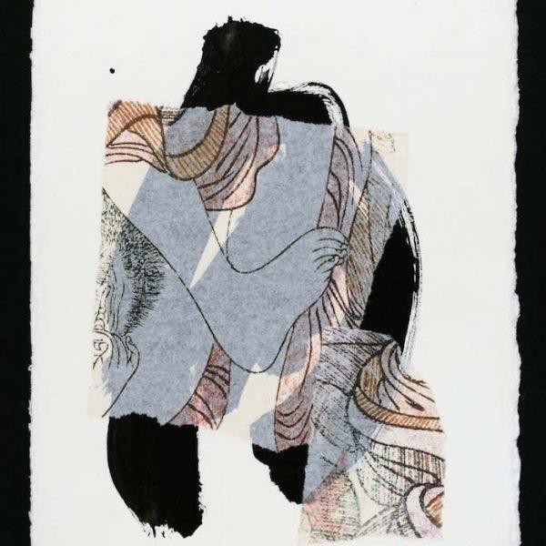 collage contemporain nu féminin et pied