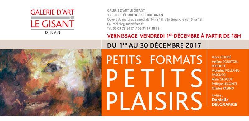 invitation exposition danielle delgrange à la galerie le gisant à dinan