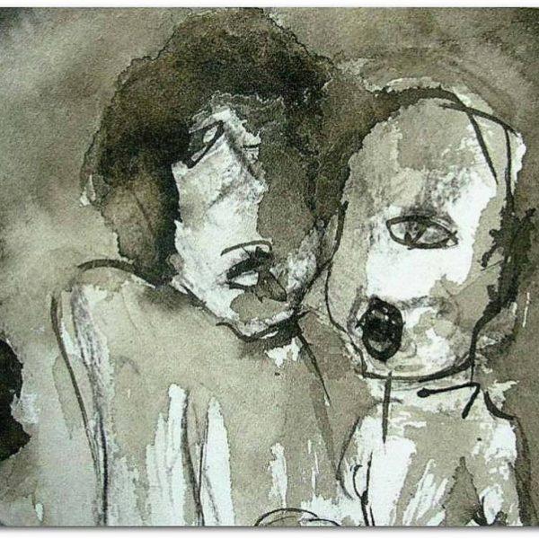 Encre noir et blanc contemporaine victorine Follana