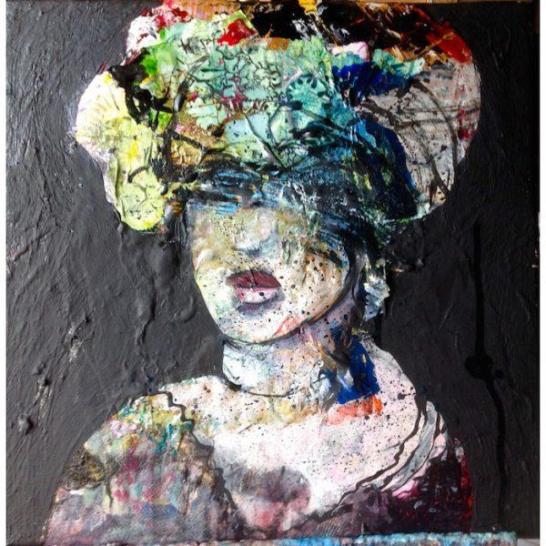 portrait moderne peinture de alain gegout à la galerie le gisant à dinan