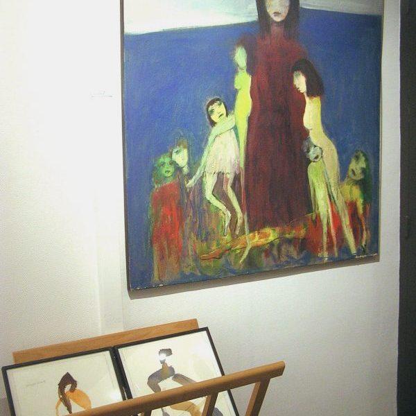 Victorine Follana mère et enfants, peinture contemporaine, galerie le gisant, dinan