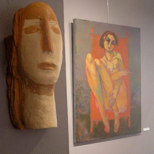terre cuite et peinture contemporaine charles pasino, galerie le gisant, dinan