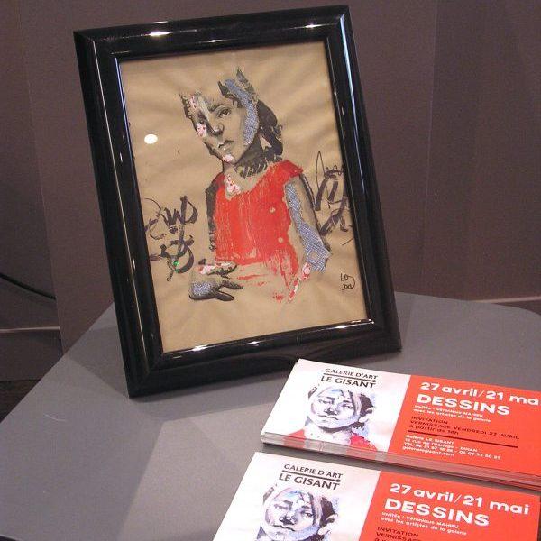 exposition dessin loba, véronique mahieu, galerie le gisant, dinan
