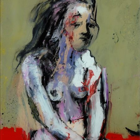 peinture de fille sage par Frédéric Hégo