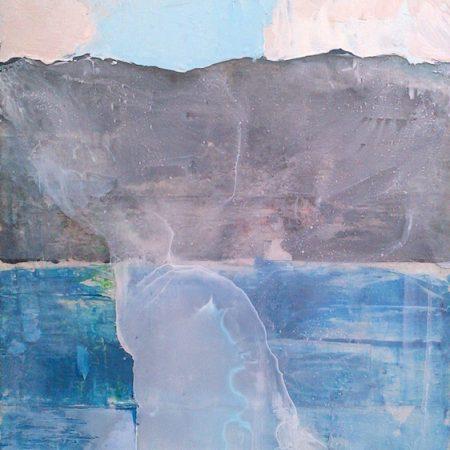 peinture de montagne bleu rose et gris philippe béranger peintre