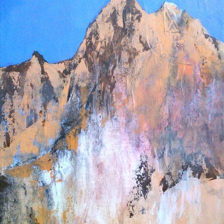 peinture de pic en montagne par philippe béranger peintre