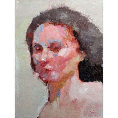 soluto portrait de femme peinture à la galerie le gisant à dinan