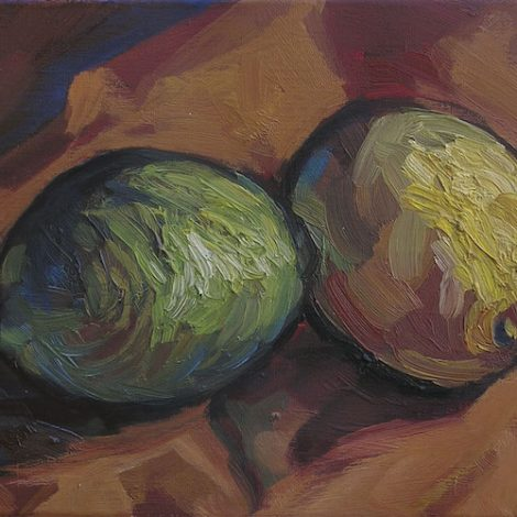 citrons peinture expressionniste