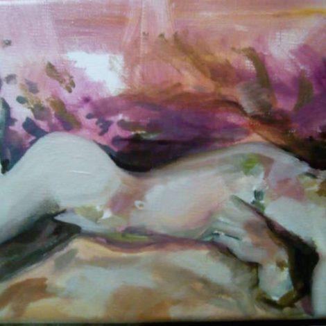 nu féminin couché peinture
