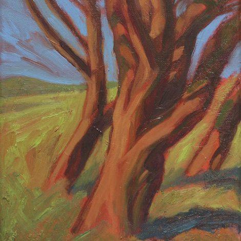 Hélène Courtois-Redouté, arbre paysage peinture galerie le gisant dinan