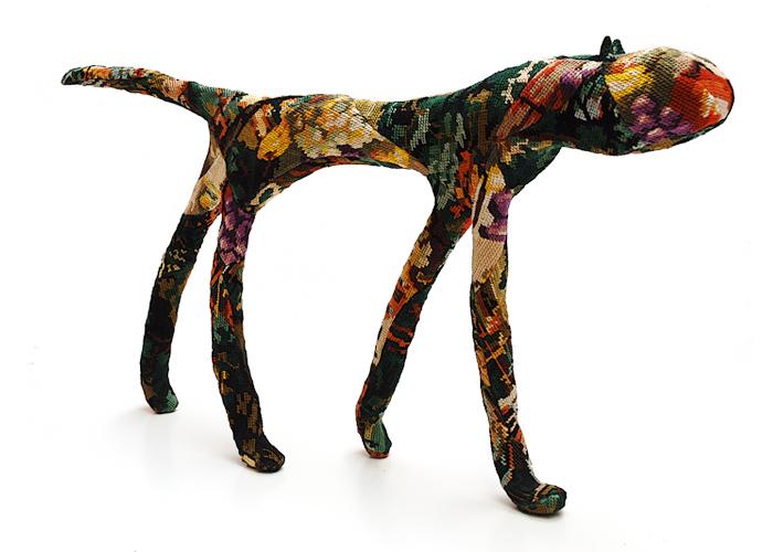 chat sculpture textile céline jegou galerie le gisant dinan