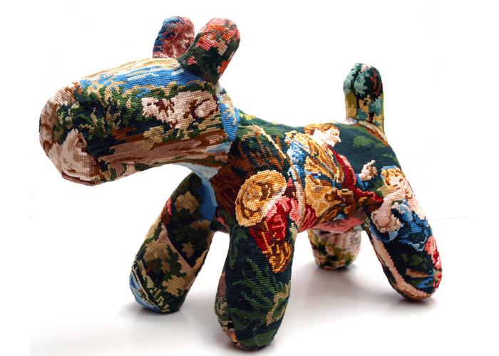 chien sculpture textile céline jegou galerie le gisant dinan
