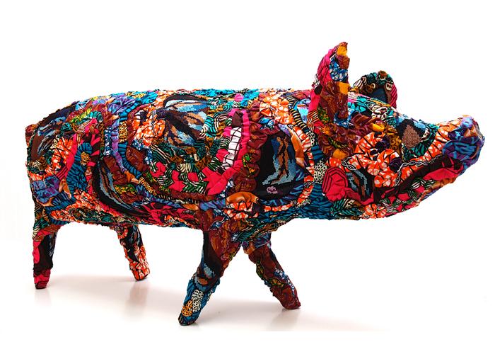 cochon sculpture textile céline jegou galerie le gisant dinan