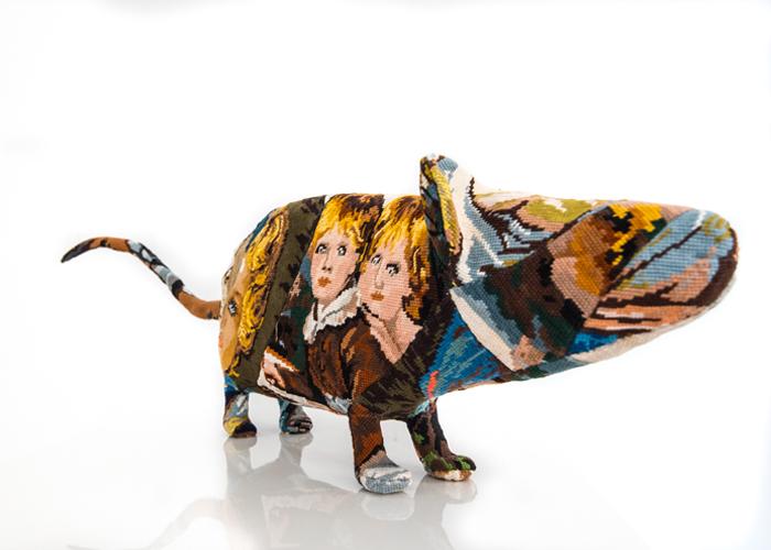rat sculpture textile céline jegou galerie le gisant dinan