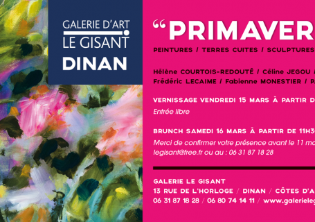 invitation vernissage printemps galerie le gisant dinan