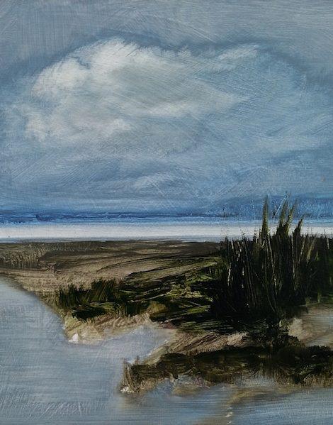 paysage peinture contemporaine bord de mer