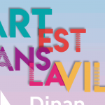 affiche l'art est dans la ville à Dinan