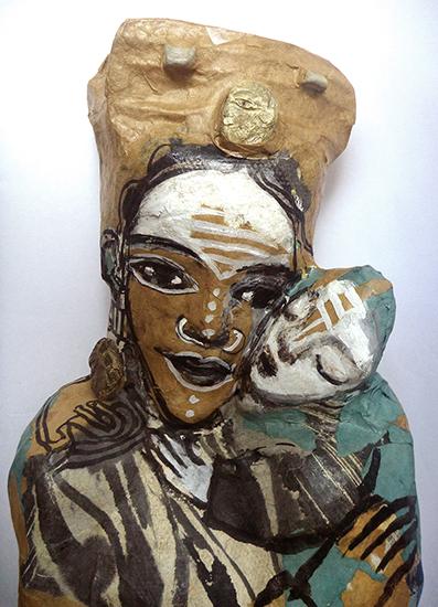 poupée papier mère et enfant