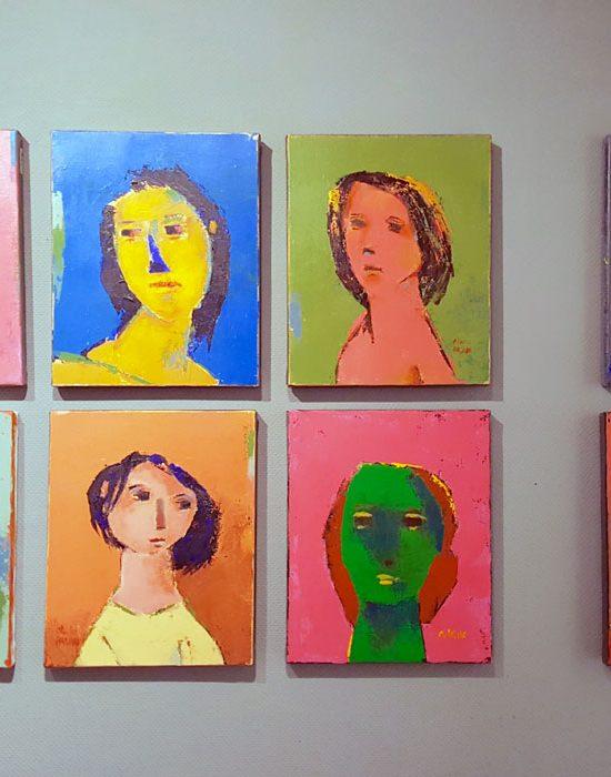 petits portraits colorés