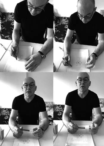 Erick leprince dans son atelier