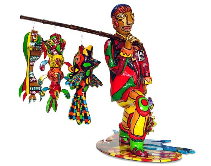 sculpture colorée