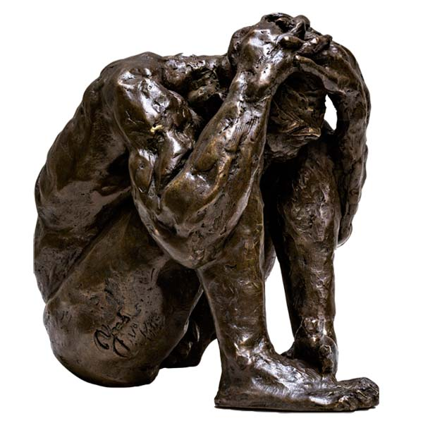 sculpture homme nu bronze