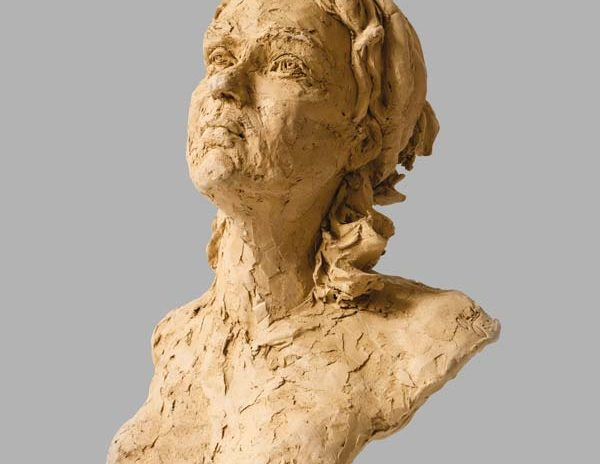 portrait fille sculpture argile