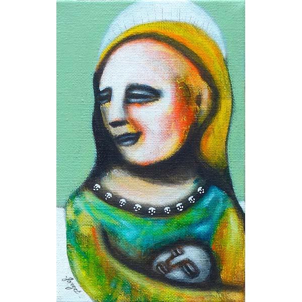 peinture mère et enfant de Christophe Forget