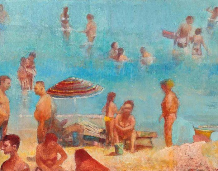 peinture de sandra d'angeli, vacances à la plage