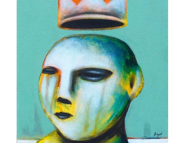 roi, peinture de Christophe Forget à la galerie Le Gisant à Dinan
