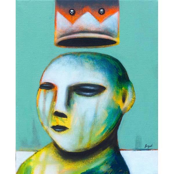 roi, peinture de Christophe Forget