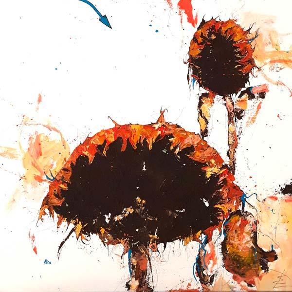 peinture tournesols Erick Leprince