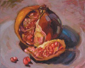 grenade peinture huile