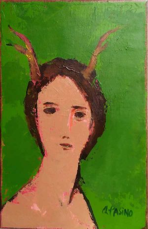 Scornuta IV, peinture