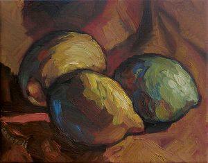 citrons-1 peinture expressionniste