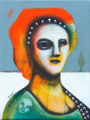 portrait d'une inconnue peinture contemporaine