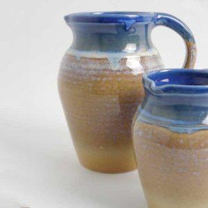 pichet grès sun and sand bleu et sable
