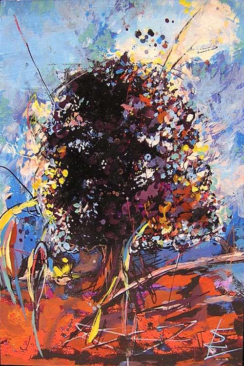 arbre peinture acrylique
