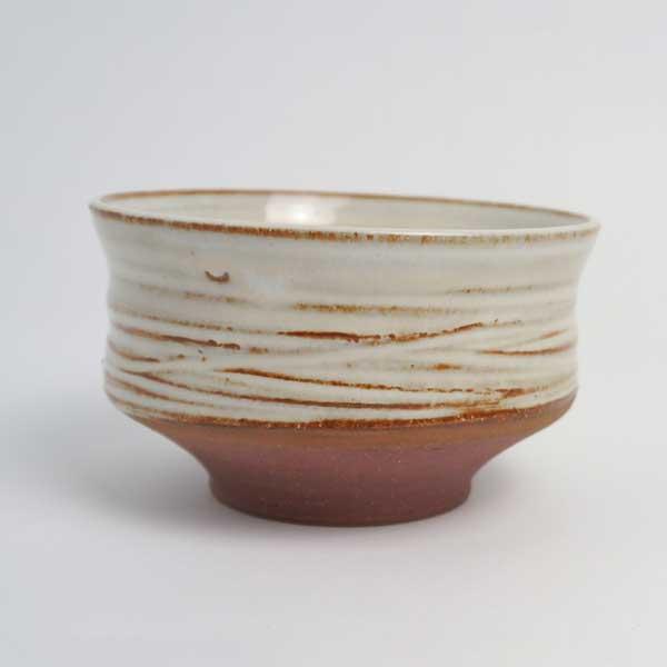 bol à thé matcha en grès blanc