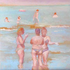 les femmes de Pesar, peinture de femmes à la plage