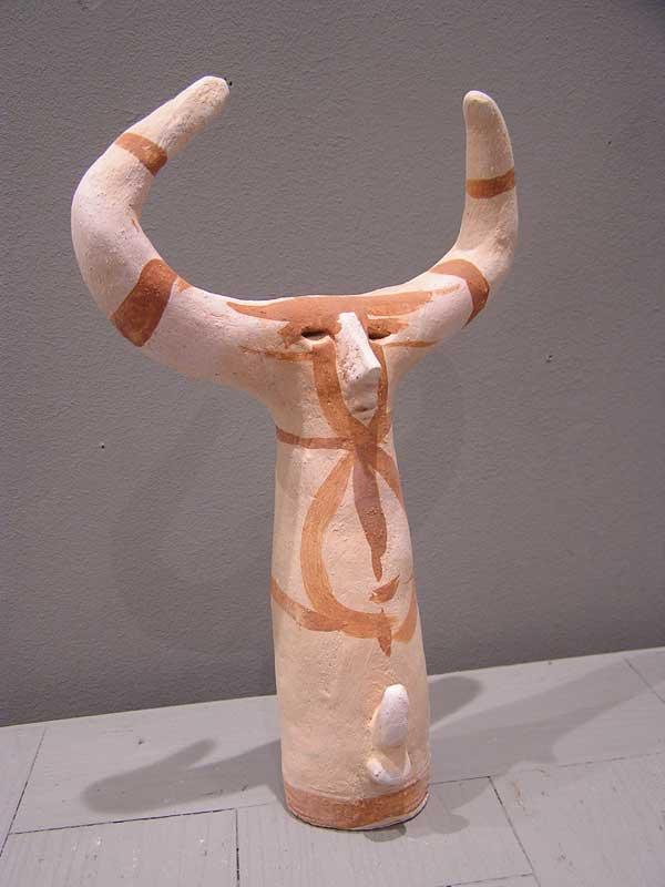 mithra phallophore, terre cuite