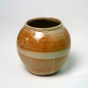 petit vase boule en grès émaillé