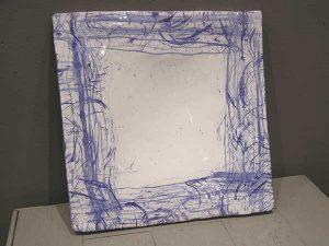 PLAT Blanc & bleu