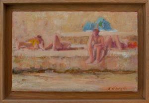 tricase 2 : peinture d'été sur la plage en Italie