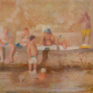 tricase 4 : peinture de plage, été et vacances