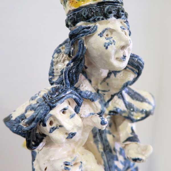sculpture de Pierre Amourette à la galerie Le Gisant à Dinan
