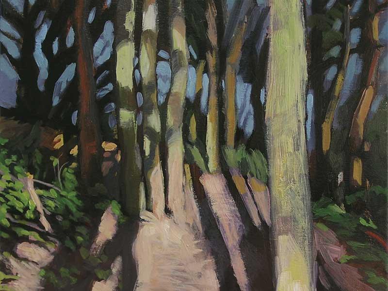 Sous-bois peinture de Hélène Courtois-Redouté